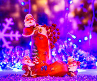 Beröm Julkort leksakgnom Fotografering för Bildbyråer