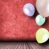 Beröm med ballonger Royaltyfri Foto