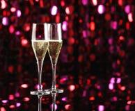 Beröm med champagne Fotografering för Bildbyråer