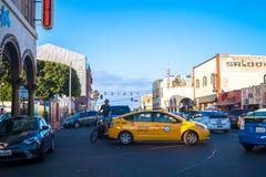 Beröm och gyckel på Venedig sätter på land, gränsmärket av Los Angeles, Kalifornien, USA Turism i Kalifornien Royaltyfria Bilder