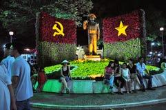 Beröm Tet kinesisk mån- för nytt år i Ho Chi Minh, Vietnam Arkivfoton