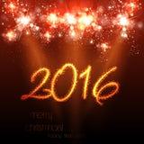 Berömbakgrund 2016 för lyckligt nytt år vektor illustrationer