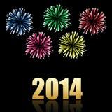 berömbakgrund för nytt år 2014 Arkivfoton