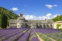 Berömd abbotskloster av Senanque Royaltyfri Bild