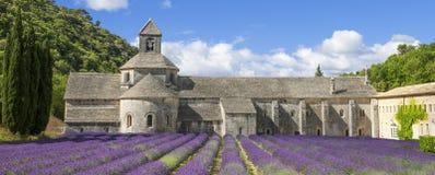Berömd abbotskloster av Senanque Royaltyfri Fotografi
