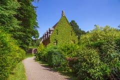Berömd abbotskloster i Orval i Belgien Arkivbild