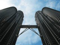 Petronas tvillingbröder, Kuala Lumpur berömd arkitektur. Malaysia Royaltyfri Foto