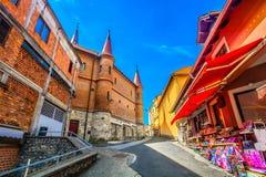 Berömd arkitektur i Marija Bistrica, Kroatien royaltyfria foton