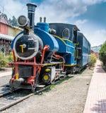 berömd bergjärnväg, Toy Train, Indien Fotografering för Bildbyråer