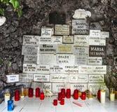Berömd Bernadette grot nära beskickninghuset i Sankt Wendel Fotografering för Bildbyråer