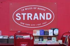 Berömd bokhandel, New York City Arkivfoto