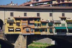 Berömd bro i Florence Arkivbilder