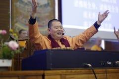 Berömd buddistisk musiker som wuming Royaltyfri Bild