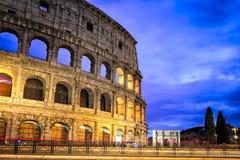 Berömd Colosseum struktur i Rome Italien Fotografering för Bildbyråer