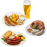 Berömd disk av tysk kokkonst stock illustrationer