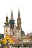 Panorama Zagreb, Kroatien royaltyfria bilder