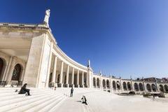 berömd för portugal för fatima iteresting ställepunkt viewl klosterbroder Arkivbilder