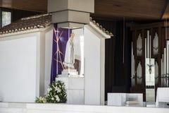 berömd för portugal för fatima iteresting ställepunkt viewl klosterbroder Arkivfoto