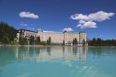 Berömd Fairmont Chateau sjö Louise Hotel Arkivbilder