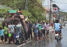 berömd festivalsongkran thailand Royaltyfri Fotografi