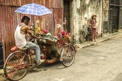 Berömd gatakonst i George Town, Penang, Malaysia fotografering för bildbyråer