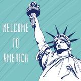 Berömd gränsmärke för värld av Amerika Arkivbild