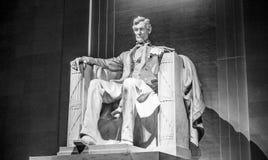 Berömd gränsmärke i Washington DC - Lincoln Memorial Fotografering för Bildbyråer