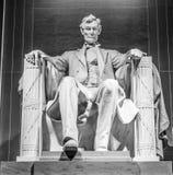 Berömd gränsmärke i Washington DC - Lincoln Memorial Arkivbilder