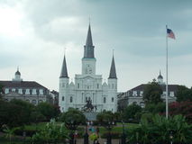 Berömd gränsmärkedomkyrka i New Orleans Royaltyfri Bild