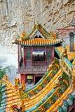 Berömd hängande kloster i det Shanxi landskapet nära Datong, Kina, Arkivbilder