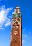 Berömd Hassan II moské i Casablanca, Marocko Royaltyfri Foto