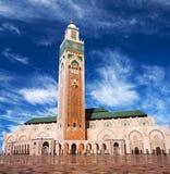 Berömd Hassan II moské i Casablanca, Marocko Arkivfoto