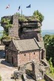Berömd haute-barr slott, Alsave, Saverne, Frankrike Fotografering för Bildbyråer