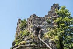 Berömd haute-barr slott, Alsave, Saverne, Frankrike royaltyfria foton