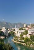 berömd herzegovin gammala mostar för Bosnienbro Arkivfoto
