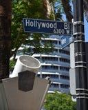 Berömd Hollywood & vinrankagatagenomskärning royaltyfria foton