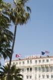 Berömd hotellarkitektur Cannes Frankrike Fotografering för Bildbyråer