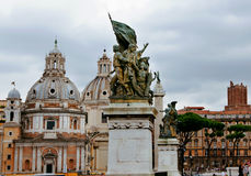 Berömd italiensk Landmark, ROM-minne arkivfoto