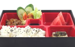 Berömd japan Bento Box Royaltyfri Fotografi