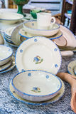 Berömd keramik i Grottaglie Arkivfoton