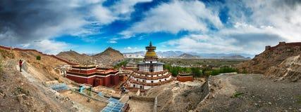 Berömd kloster i Tibet (Gyantse) Fotografering för Bildbyråer