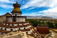 Berömd kloster i Tibet (Gyantse) Arkivbilder