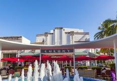 Berömd koloni Art Deco Theater i Lincoln Road, södra strand, Mia Arkivfoto