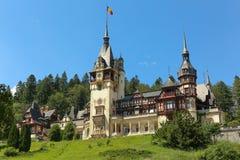 Berömd kunglig Peles slott, Sinaia, Rumänien Royaltyfria Foton