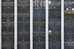 Berömd kyrkogård Mirogoj Arkivbilder