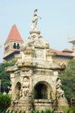 Berömd landmark av Mumbai (Bombay) - floraspringbrunn, Indien royaltyfri bild