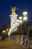 berömd landmark paris för alexander bro royaltyfri foto