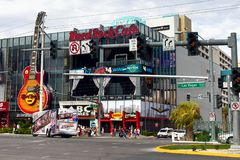 Berömd Las Vegas remsa, dragningar, boulevard, Nevada, USA Royaltyfria Bilder