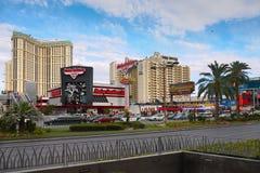 Berömd Las Vegas remsa, dragningar, boulevard, Nevada, USA Royaltyfri Foto