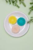 Berömd mat för kines Mooncakes Kinesiska bakelser traditionellt e Fotografering för Bildbyråer